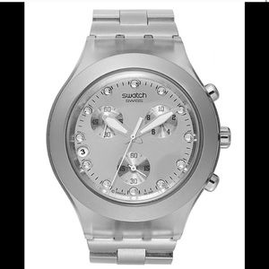 Swatch Irony Quartz Movement Silver Watch